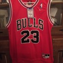 Michael Jordan Chicago Bulls #23 Icon Rouge maillots